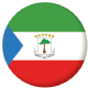 Equatorial Guinea Country Flag 25mm Keyring